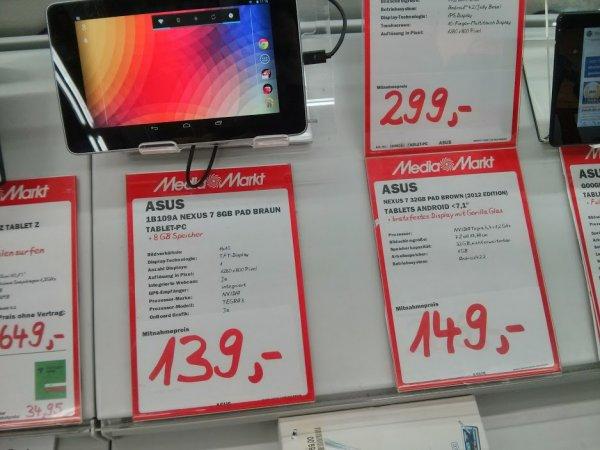 (lokal Holzminden) MM - Google Nexus 7 32GB 2012 - NEU