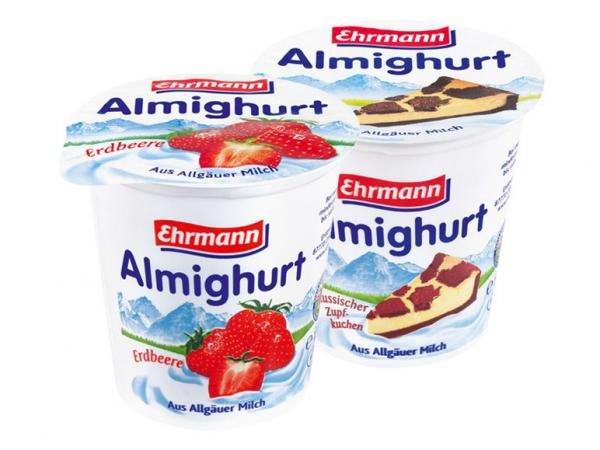 Ehrmann Almighurt 150g-Becher verschiedene Sorten für 0.25€ - bei Lidl am Samstag, 09.11.2013
