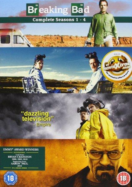 Breaking Bad - Season 1-4 Complete [DVD]  für 33,84 € @Amazon.co.uk