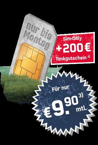Getmobile Allnet Flat Eplus ohne Internet / SMS +200€ Aral Gutschein ABGELAUFEN