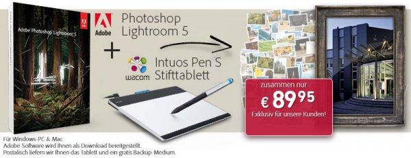 Wacom Intuos Pen S Grafiktablett inkl. Adobe Lightroom 5 für 89,-