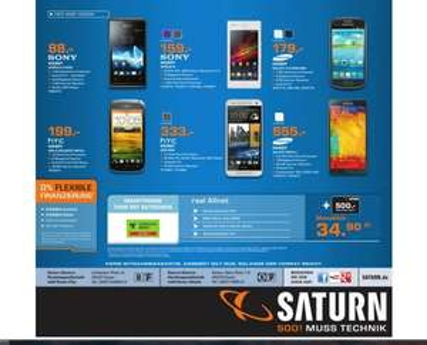 HTC One Mini Schwarz oder Silber freie Ware Saturn Essen (lokal) für 333 Euro