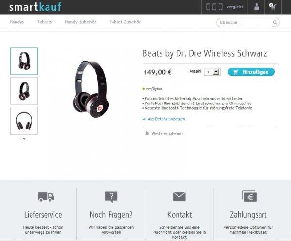 Beats by Dr. Dre Wireless Schwarz 149€ statt 175€