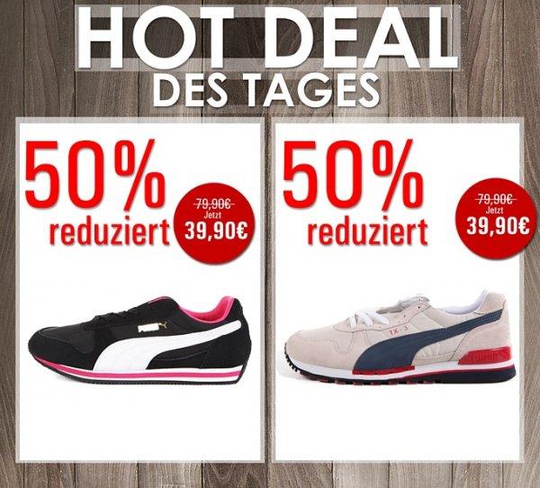 Damen und Herren Puma-Sneakers 50% reduziert @Brands Store