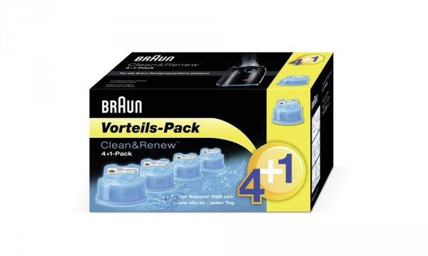 Braun Clean&Renew CCR Reinigungskartusche 5er Pack für nur 17,90 Euro (evtl. + 3 Euro Versand) @Amazon