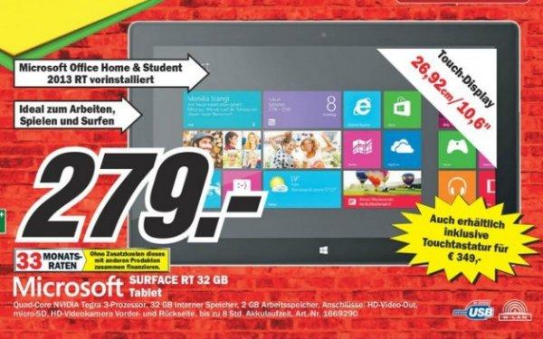 Microsoft Surface RT 32GB im [Mediamarkt Gütersloh]