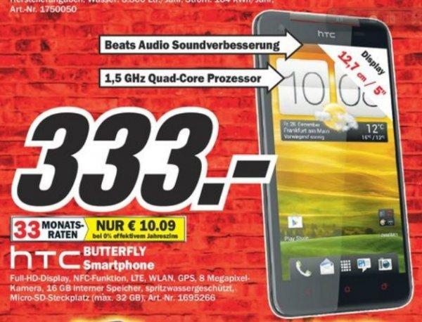 HTC Butterfly 333€ lokal [Mediamarkt Gütersloh]