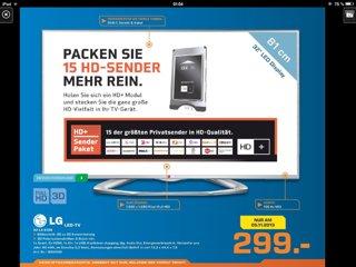 Lokal Köln nur heute LG 32LA6136 106 cm (32 Zoll) Cinema 3D LED-Backlight-Fernseher