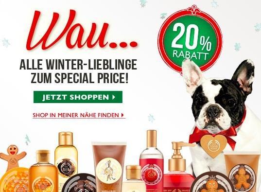 Gratis Honey-Mania Body Butter bei The Body Shop + 20% Rabatt auf Weihnachtswelt-Produkte
