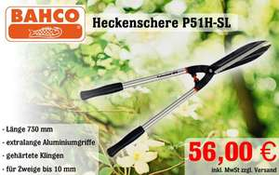 Bahco Heckenschere P51H-SL