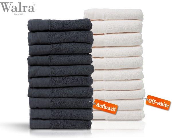 Walra handtuch-Set 10er Pack in weiß und Anthrazit für 34,95€ zzgl. 6,95€ Versand @guut.de
