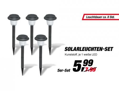 offline @ TOOM  -  5 Solarleuchten 5,99€