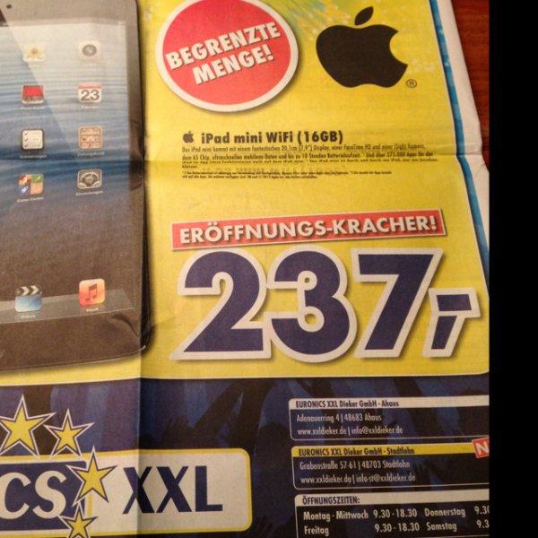 [Lokal Stadtlohn] iPad mini WiFi 16 GB für 237,- €