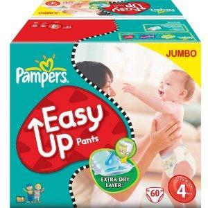 Pampers Easy Up Pants (Gr. 4): Jumbo-Pack (120 Stück) für EUR 19,99 (EUR 0,17 / Stück)