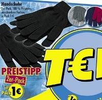 2er-Pack Handschuhe in verschiedenen Farben für 1 €