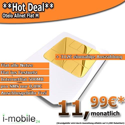 Otelo Allnet Flat M für nur 11,99€