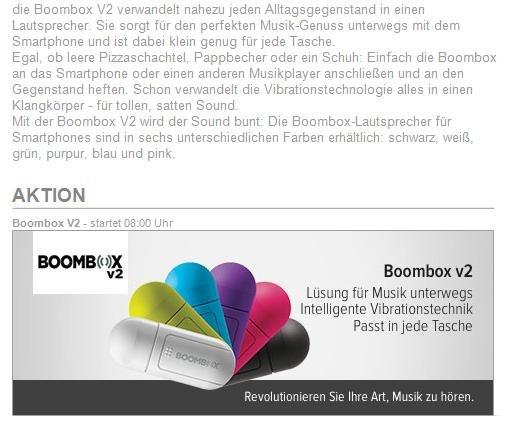Boombox V2: Vibrations-Lautsprecher für ganz großen Sound
