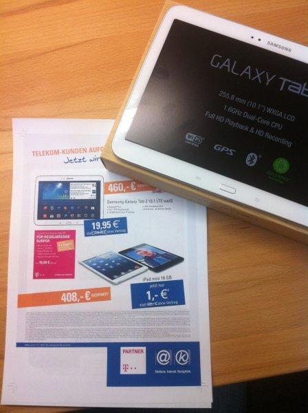 [Lokal Ahaus] Samsung Galaxy Tab 3 10.1 LTE weiß