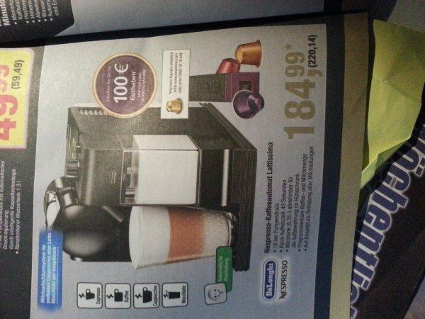 [Metro] Nespresso Lattissima inkl. 100€ Kapselguthaben
