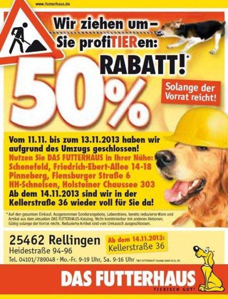 [25462 Rellingen] Futterhaus 50% auf alles!