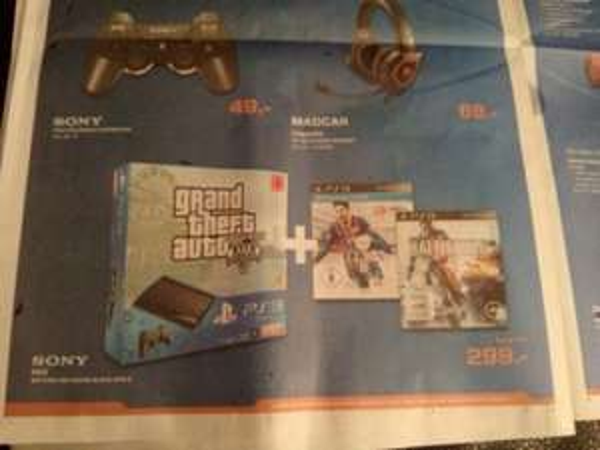 PS3 GTA5 Pack +FIFA 14&BF 4 Saturn HRO