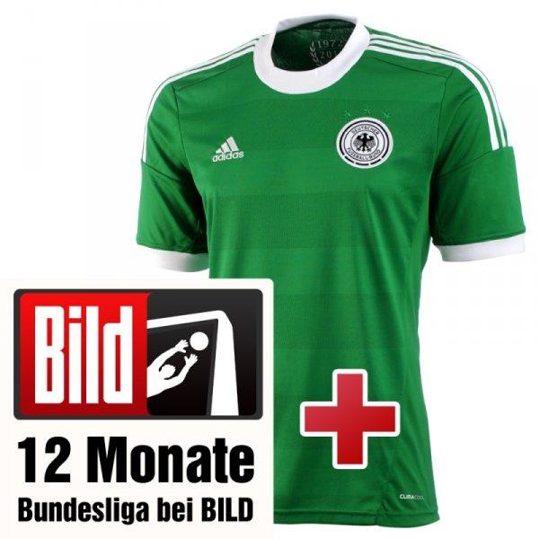 Bildplus 12 Monate + Deutschland Trikot (weiß, grün oder Kids) 59€