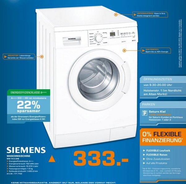 """Siemens™ - Waschmaschine """"WM14E346"""" (6kg,1400U/m,A+++) für €333.- [@Saturn Kiel]"""