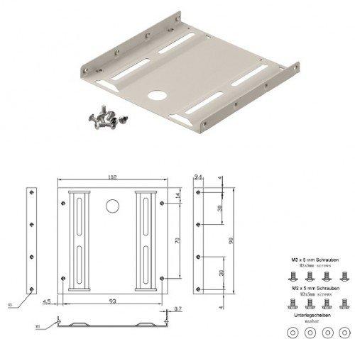 """SSD 2,5""""  Einbaurahmen für 3,5"""" Schacht für 1,99€ @ebay"""