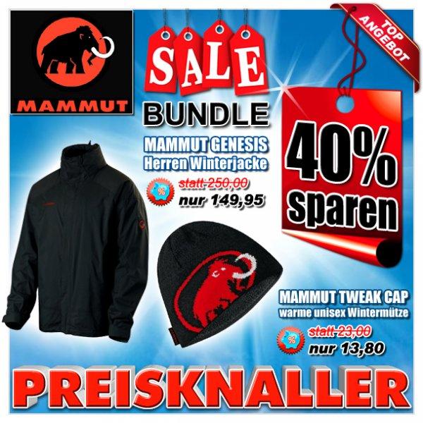 40% Rabatt Aktion auf Mammut Wintermützen & Mammut Winterjacken