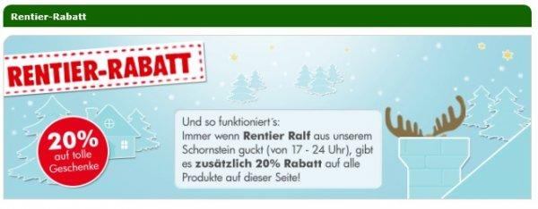 20% Rentier-Rabatt auf ausgewählte Produkte @mytoys.de