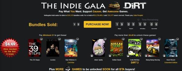 "[Steam] ""THE INDIE GALA DIRT BUNDLE"" ab 0,77 € Lucius... /ab 3,35€ Huntsman: The Orphanage DIRT 2, Dollar Dash..."