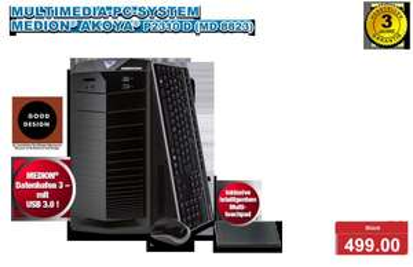 "Aldi-PC vom 14.3.2013 ""Medion Akoya P2310D (MD8823)"" 100€ billiger"