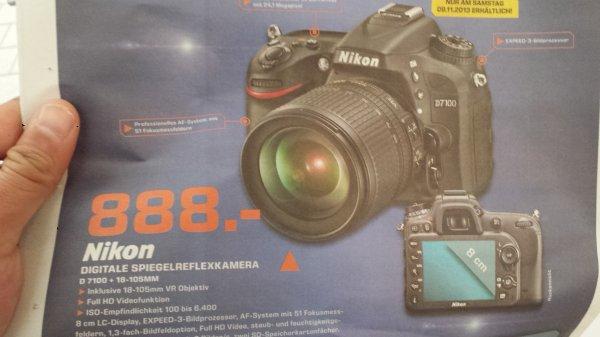 Nikon D7100 VR18-105 888€ Lokal Stuttgart und Esslingen Saturn