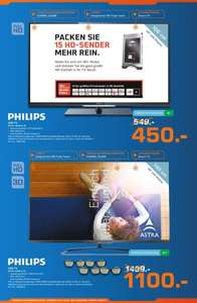 Saturn Senden Lagerverkauf. 2 Philips Tv´s ein bißchen günstig.