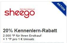 [NEUKUNDEN] 10,68€ Gewinn durch 2000 Paybackpunkte-Gutschrift auf sheego.de