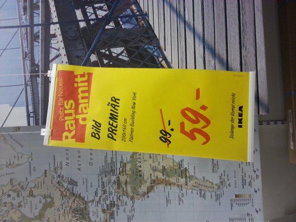 [IKEA Essen lokal]  gerahmte Bilder Premiär (200x140cm) und Pjätteryd (90x90cm) für 59 statt 99 bzw. 19 statt 39 Euro