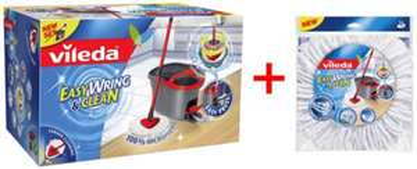 Vileda Easy Wring & Clean + Ersatzwischbezug [Wischmop mit Powerschleuder] Microfaser Mop, Eimer + Gratis Ersatzwischbezug! @ebay 29,99