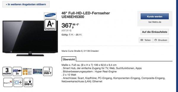 [Metro offline] Samsung UE46EH5300 LED TV