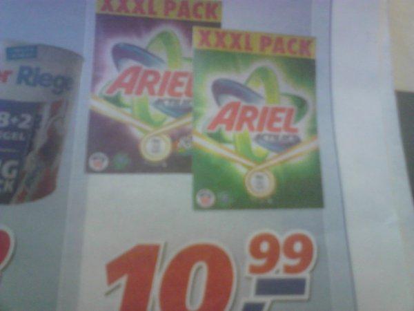 [real Raisdorf] ARIEL XXXL Pack 8kg Waschmittel 100 WA nur 10,99 Euro (keine 11Cent/WL)