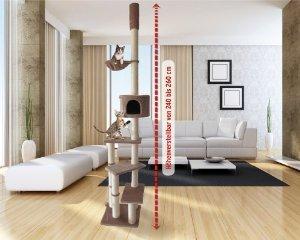 Deckenhoher Kratzbaum für 52,95 + 6,90 Versand