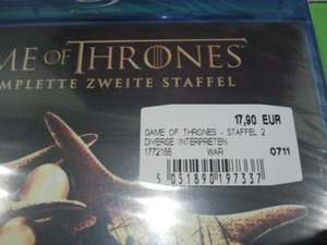 [Lokal Neuss?] Game of Thrones Staffel 2 Blu Ray für 17,90€ bei Media Markt Neuss!