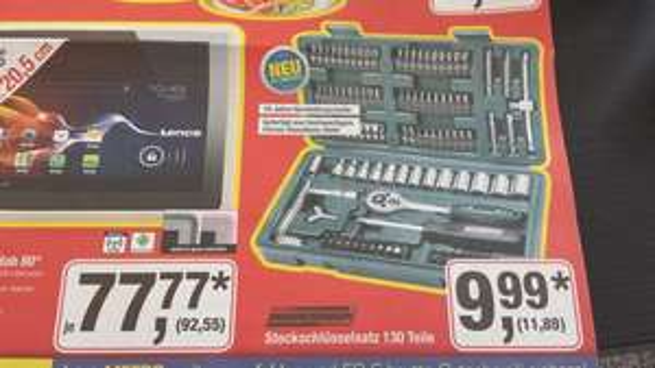 [Metro Lokal? Kassel] Mannesmann 130 Teiliger Steckschlüsselsatz nur heute für 11,89€