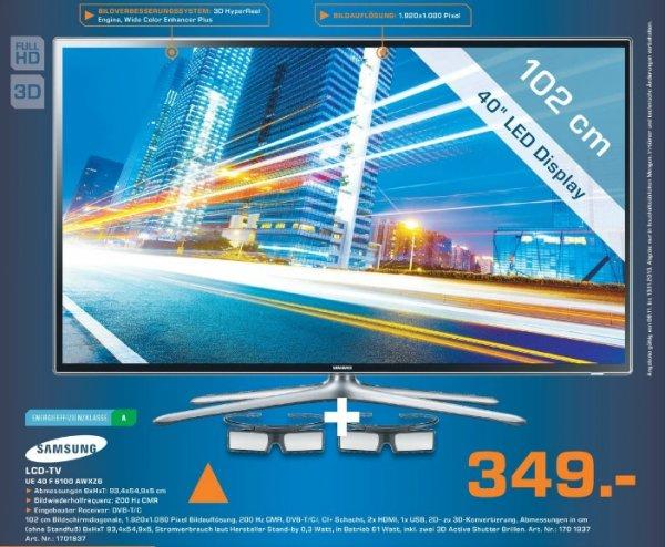 [Saturn Bergisch Gladbach] Lokal Samsung UE40F6100 AWXZG 349€
