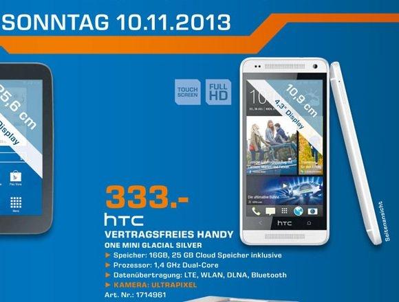 [Saturn Bergisch Gladbach] Lokal HTC One Mini 333€ TAGESANGEBOT 10.11.2013