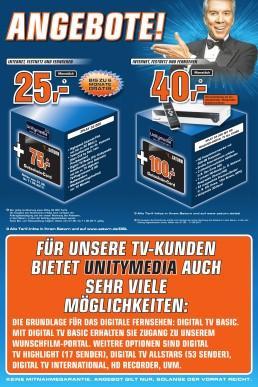 [Lokal? Saturn Hanau] Unitymedia Angebote mit Saturn Gutschein