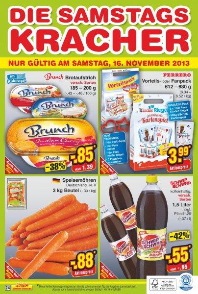 Möhren 3 kg bei Netto Markendiscount für 0,88€- nur am 16.11.2013