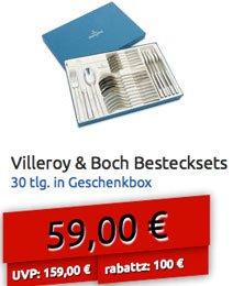 Villeroy & Boch Tafelbesteck 30tlg in Geschenkbox  für 59 EUR @ Deltatecc