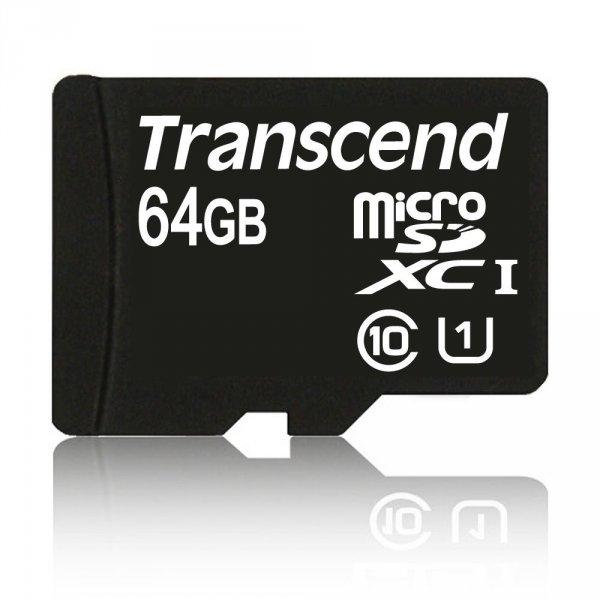 Transcend MicroSDXC 64GB Premium Class 10 UHS-I 45MB/s inkl. SD-Adapter [Amazon]