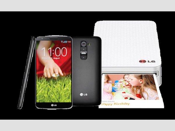 LG G2 inkl. LG Pocket Photo Minidrucker für 469 Euro  [Saturn Super Sunday]