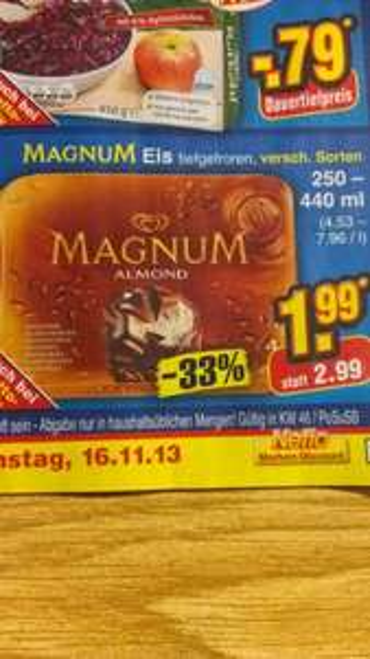 Magnum Eis versch. Sorten 4er Packungen@Netto ohne Hund